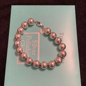 Tiffany & Co silver hardwear ball bracelet